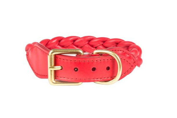 Collars - Braided Collar In Red Leather