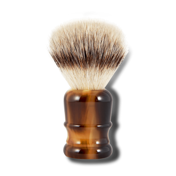 SUPPLY Silvertip Synthetic Shaving 牛角質感剃鬚刷 (Faux Ox Horn)