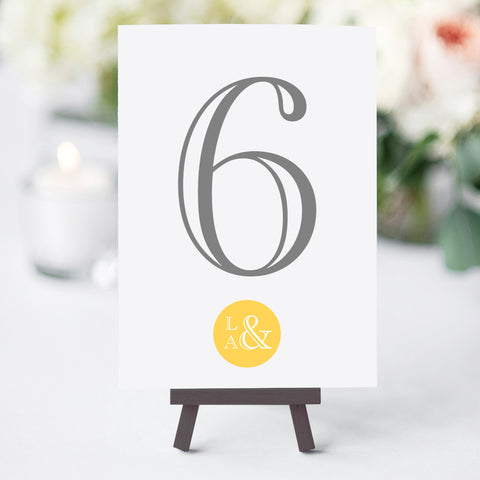 At The Seaside Table Numbers