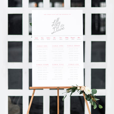 Cocktails Table Plan