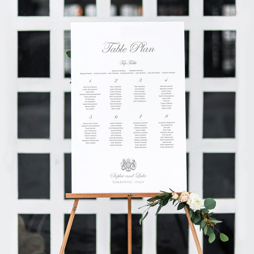Come Fly With Me Table Plan