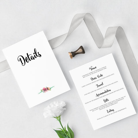 Garden Party Details Cards