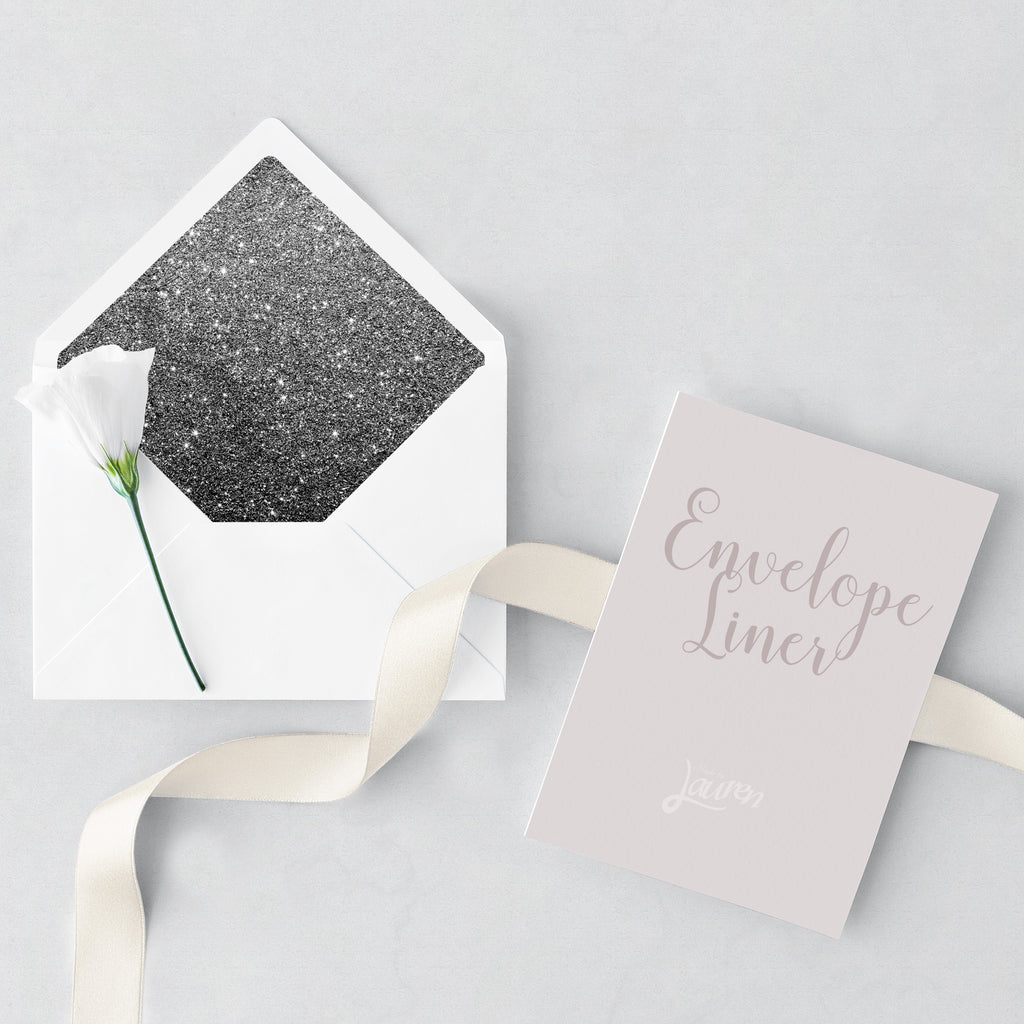 Diamond Glitter Liner and Envelope