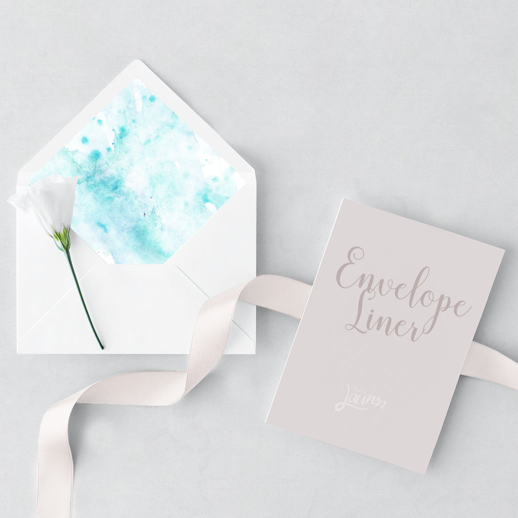 Turquoise Envelope and Liner