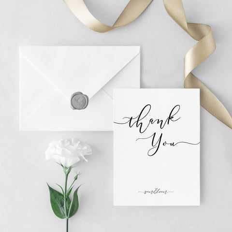 Glamour Photo Thank You Cards