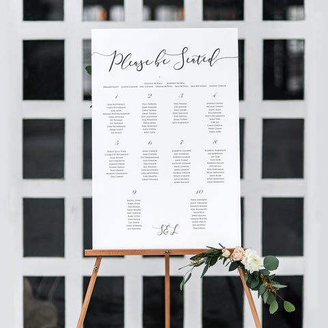 Glamour Table Plan