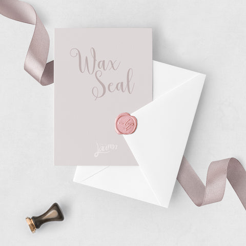 Rose Pink Personalised Wax Seal
