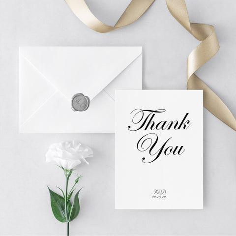 Romance Thank You Cards
