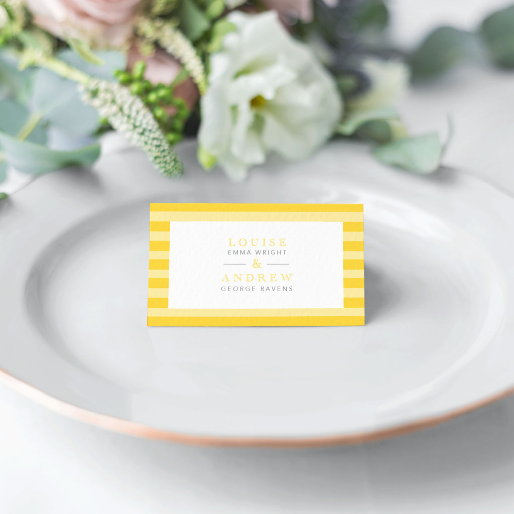 At The Seaside Place Cards