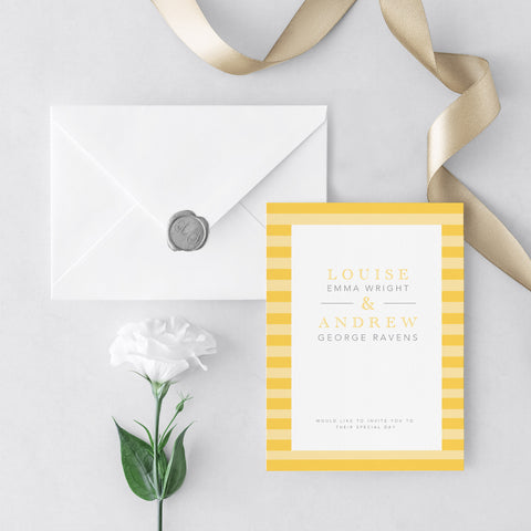 At The Seaside Wedding Invitations