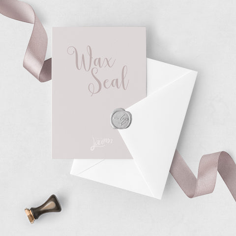 Silver Personalised Wax Seal