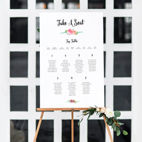 Garden Party Table Plan