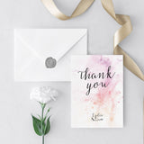 Watercolour Photo Thank You Cards
