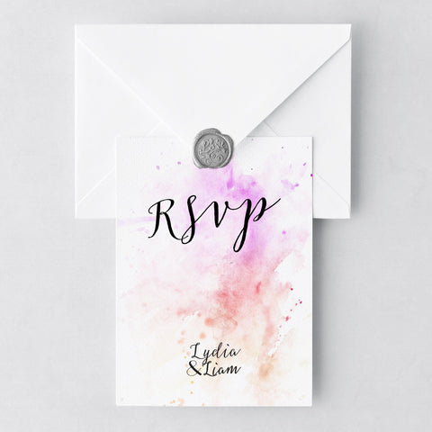 Watercolour RSVP Cards