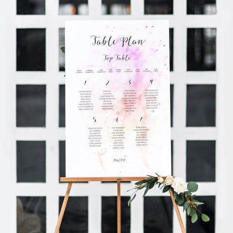Watercolour Table Plan