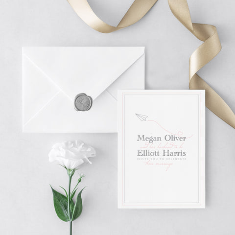 Catch Me If You Can Wedding Invitations