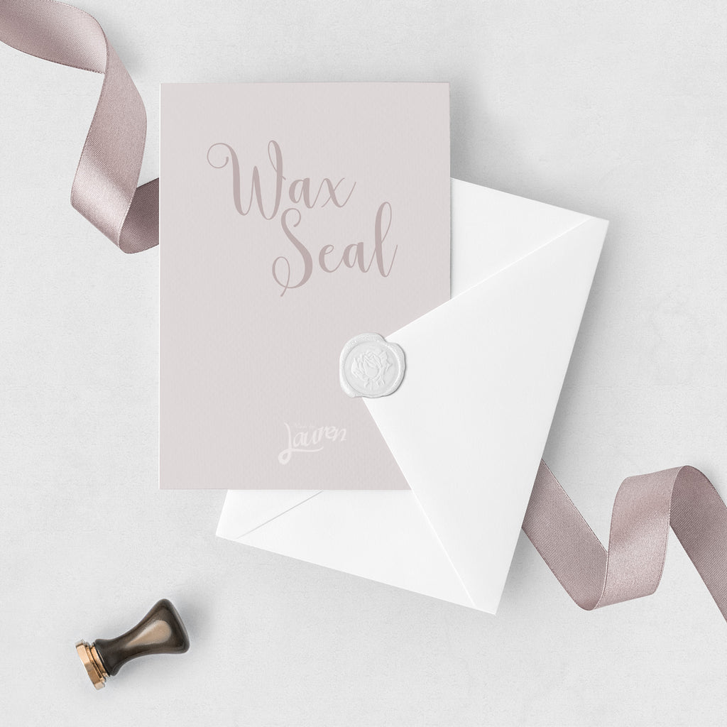 Pearl White Flower Wax Seal