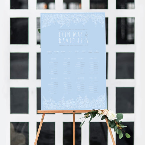 Winter Wonderland Table Plan