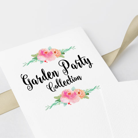 Pre Wedding Garden Party Collection