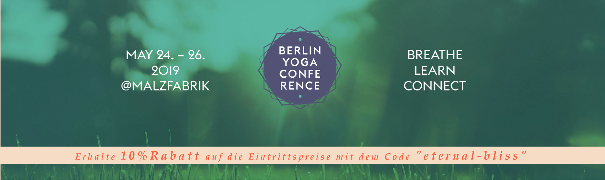 ETERNAL BLISS auf der Berlin Yoga Conference 2019 vom 24. - 26. Mai in der Malzfabrik
