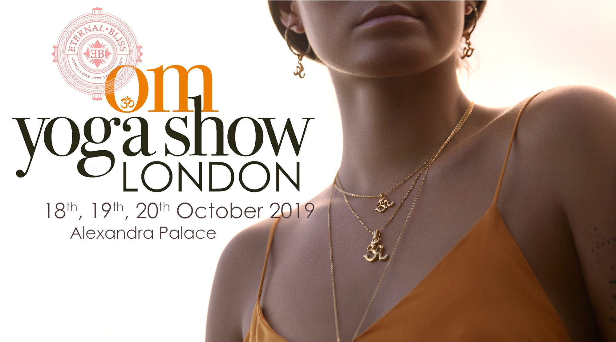 ETERNAL BLISS spiritual jewellery at Om Yoga Show London 2019  at Alexandra Palace