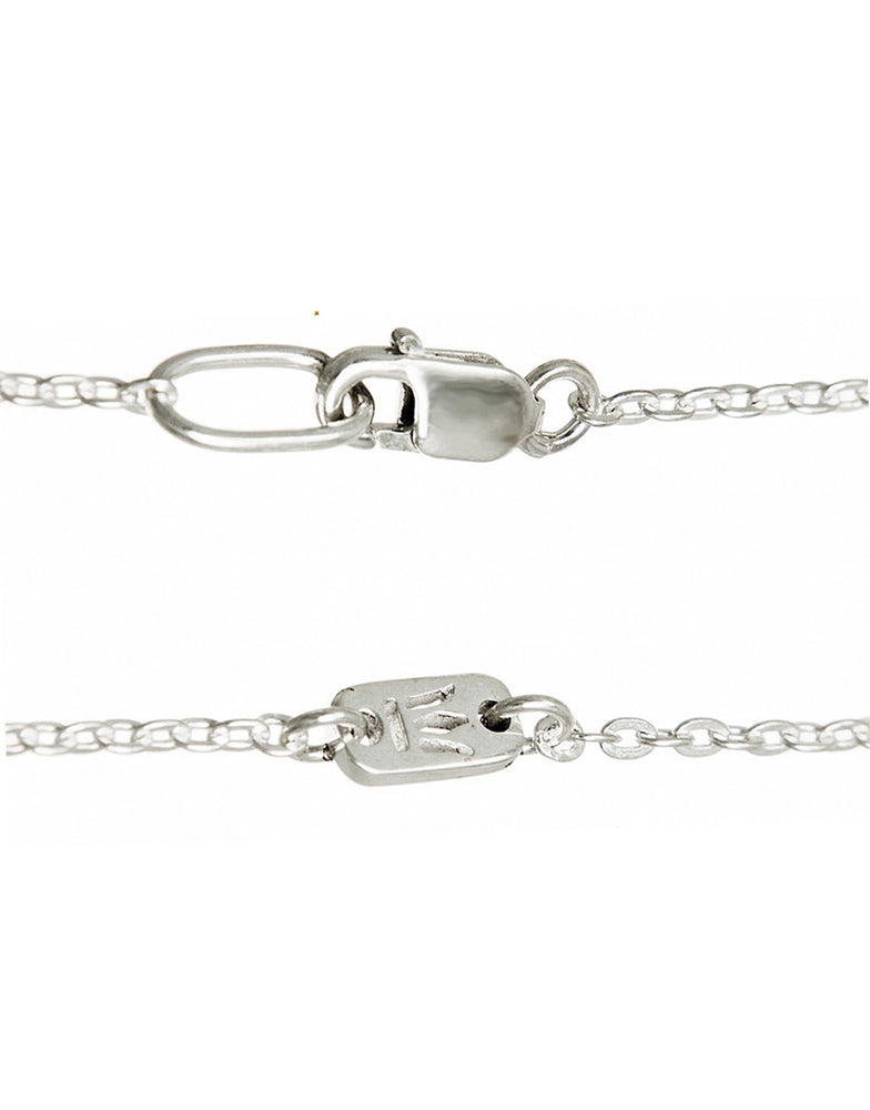 Eternal Bliss ANKERKETTE MIT GLANZ Sterling Silber 1,5mm mit Karabiner