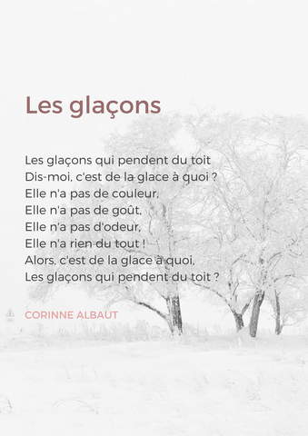 french poems winter