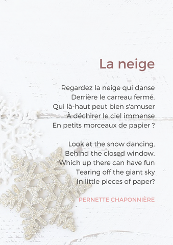french poem winter and snow