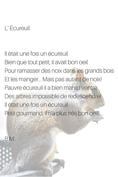 l'écureuil french poem and poet autumn poetry by selfrench