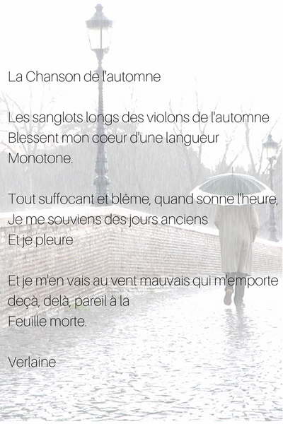 5 French poems about autumn – Selfrench