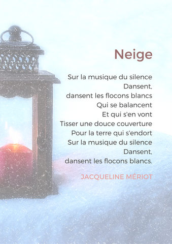 french poems winter and cold