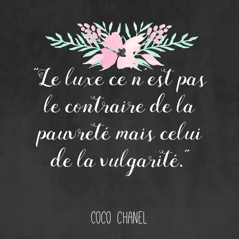 Coco Chanel quotes in French