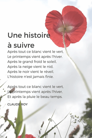 french poem beginners