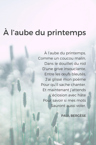 poem french beginner spring