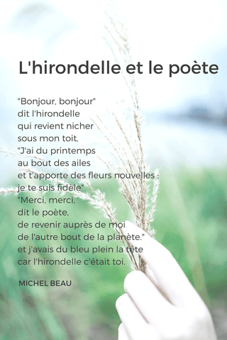 french poem beginner french