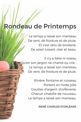 french poem spring beginner
