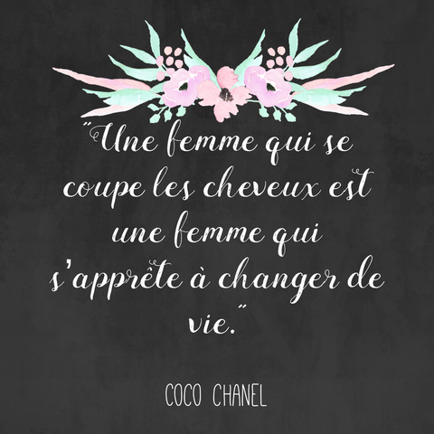 Coco chanel french quote