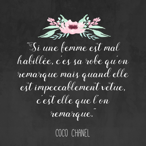 coco chanel french quotes