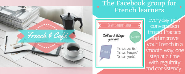 french café learn french daily free community