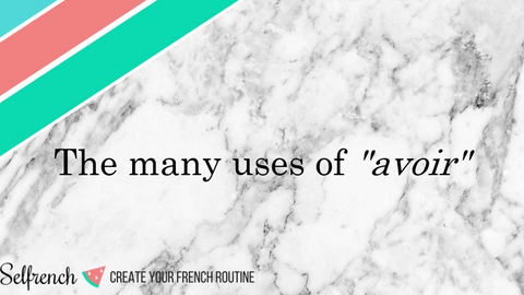 The many uses of avoir - Lesson and practice slide