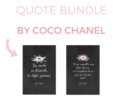 Coco Chanel Quotes - 10 Printables Bundle