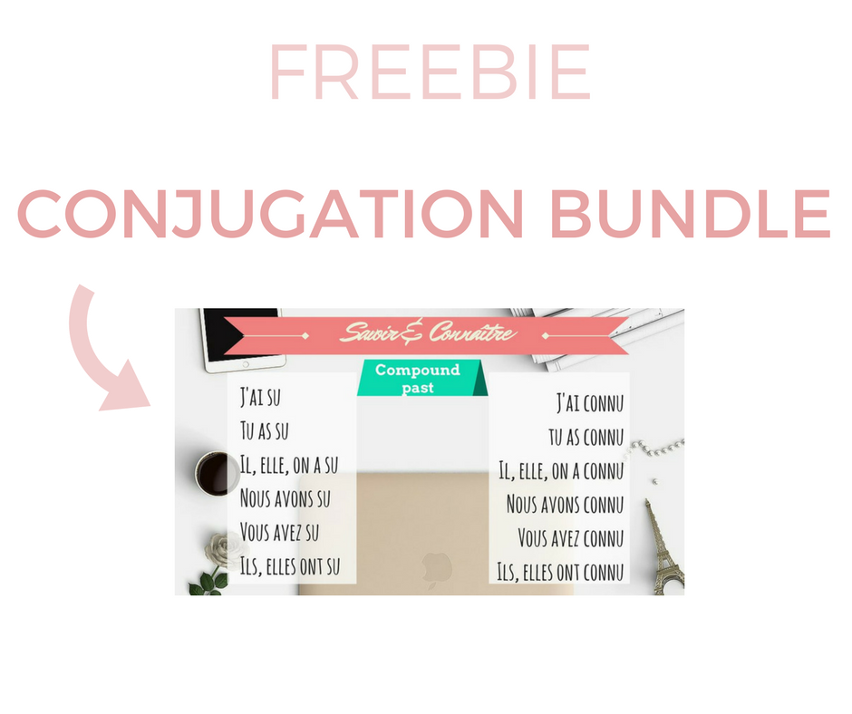 Wallpaper & Infographic - Conjugation bundle