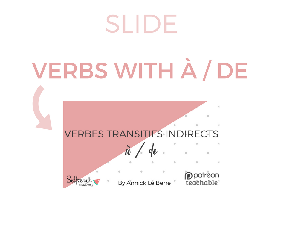 PDF: Verbes transitifs indirect