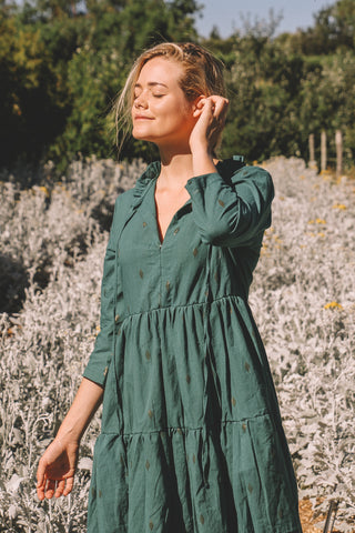 PRE - ORDER IRIE TIERED MAXI DRESS - JADE GREEN (MARCH DELIVERY)