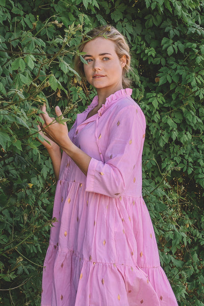PRE - ORDER IRIE TIERED MAXI DRESS - HIBISCUS PINK (APRIL DELIVERY)