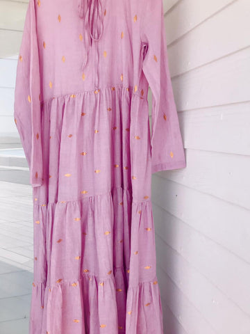PRE - ORDER IRIE TIERED MAXI DRESS - PEONY (MARCH DELIVERY)