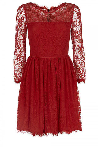Juicy Couture Red Lace Dress