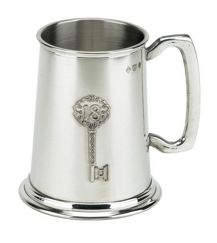 18th Birthday 1 Pint Pewter Tankard - Bracknell Engraving & Trophy Services