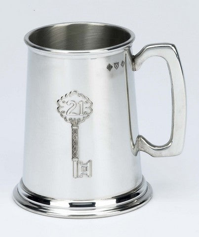 21st Birthday 1 Pint Pewter Tankard