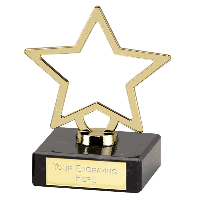 Gold Galaxy Metal Stars - Bracknell Engraving & Trophy Services